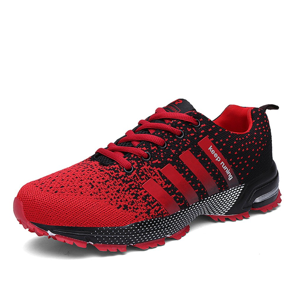 KUBUA Womens Running Shoes Trail Fashion Sneakers Tennis Sports Casual Walking Athletic Fitness Indoor and Outdoor Shoes for Women F Red Women 5 M US/Men 4 M US