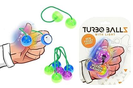 TOI Toys 35762 Turbo Bombilla pelotas (Azul, Rojo, grünn, púrpura).