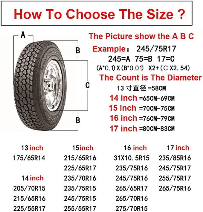 17 inch, With RAV4 logo SZSS-CAR Car Spare Wheel Tire Cover Case Auto Tyre Protector Storage Bags for Toyota Prado Corolla Yaris Rav4 Camry Land Cruiser With Logo
