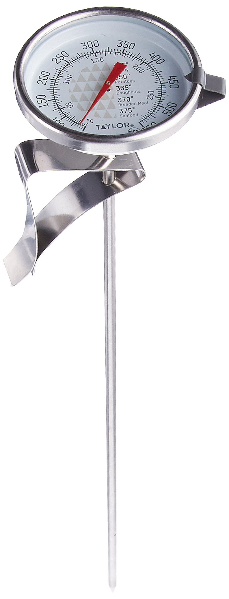 Taylor 3522 TruTemp Series Candy/Deep Fry Analog Dial Thermometer with 12'' Stem