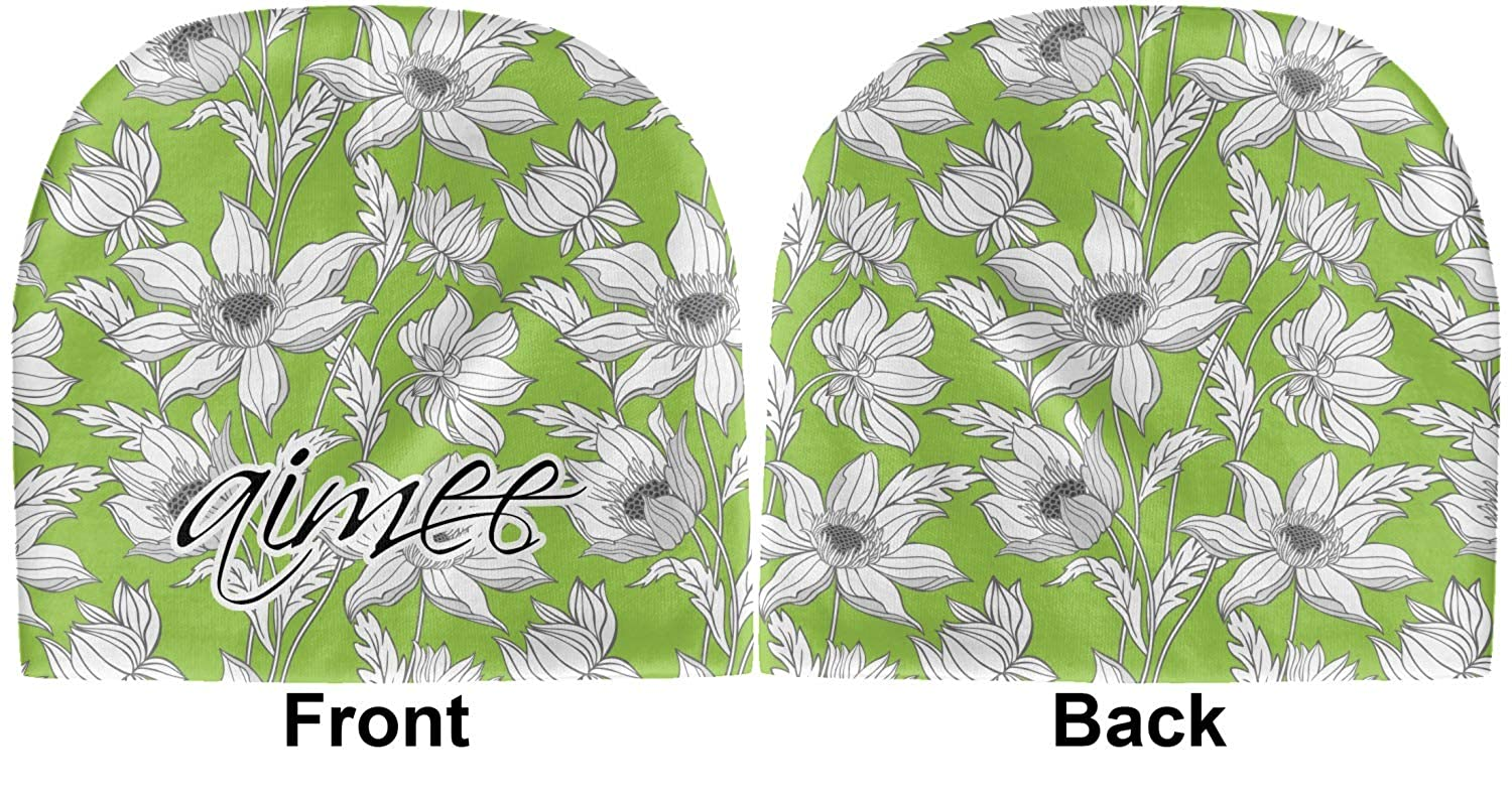 Personalized Green Beanie YouCustomizeIt Wild Daisies Baby Hat