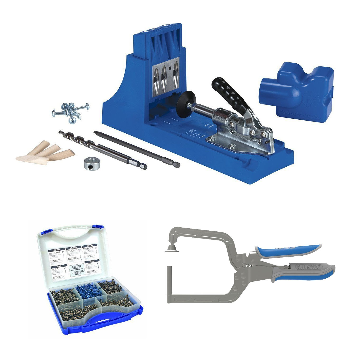 Kreg Jig K4 System With SK03 Pocket-Hole Screws and Right Angle Clamp