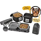 Dog Travel Food Set For Small Dogs - 7pk Including Collapsible Bowls, Carriers, Scooper, Place Mat, Bag