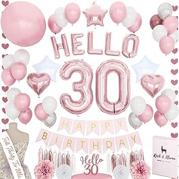 Amazon.com: Decoración de cumpleaños número 30 de la marca ...