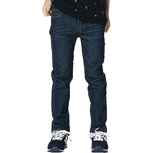 Amazon com: LEO&LILY Boys' Big Jeans, Dis Blue, 5: Clothing
