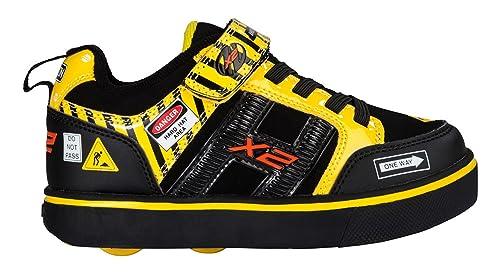Heelys Bolt, Zapatillas Unisex niños, (Black/Yellow Caution), 32 EU