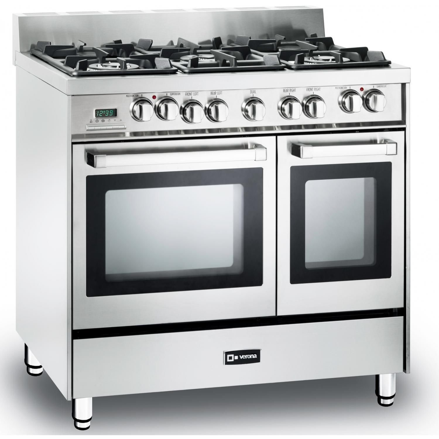 amazon com verona vefsge365ndss 36 pro style dual fuel range with