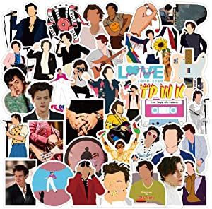 Harry Edward Styles Stickers [50 pcs] British Singer Unique Cool Stickers for Water Bottle Hydro Flask Notebook Guitar Skateboard Travel Case, Best Gift for Kids Teen Birthday Party