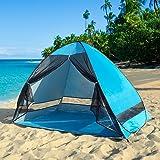 サンシェードテント ワンタッチ テント キャンプテント アウトドア 幅200 日よけ 3-4人用 SPF50+ uvカット メッシュ 防水 通気