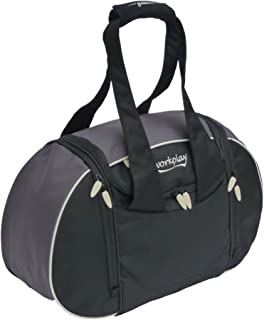 Goddess II Ladies Gym Bag With Wash And Shoe Laundry Black Grey
