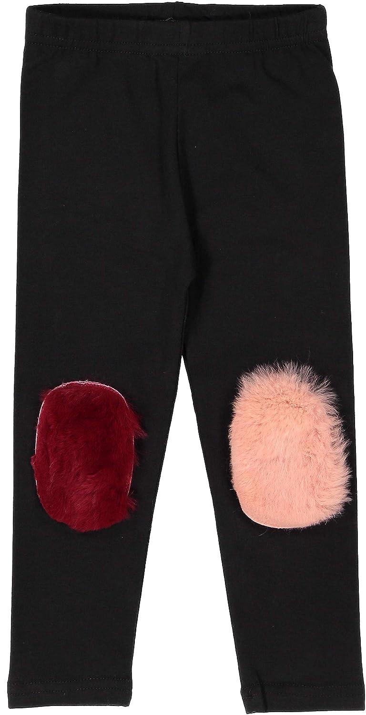 Noggi Pink Fur Patch Cotton Leggings