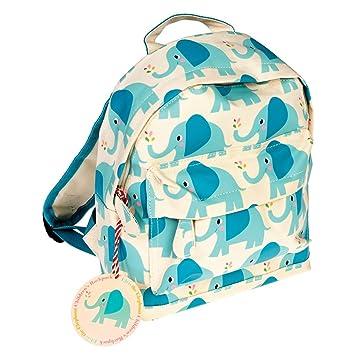 Ls Design Kinderrucksack Kindergarten Tasche Elefant Blau Grün Grau