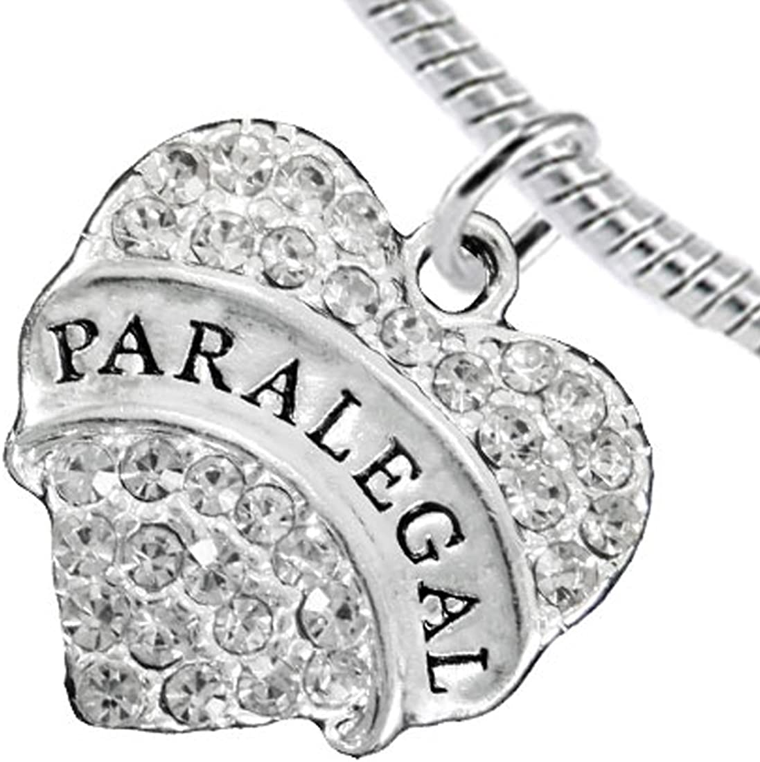 Cardinali Jewelry Paralegal Heart Charm Bracelet Hypoallergenic, Safe, Nickel, Lead & Cadmium Free!