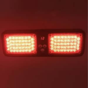 Wecade 86 LED Sunshield Strobe Light Super Bright Flashing Emergency Warning Lights for Visor Maximum Visibility with 12 Flashing Patterns Fits Commercial Truck Boat Car (Red)