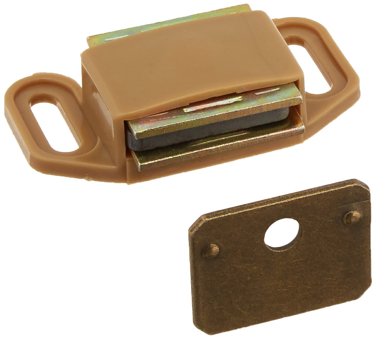 Amerock BP3473PT Magnet Catch, 1-1/8 In L X 3/4 In W Strike, Plastic Case by Amerock (Image #1)