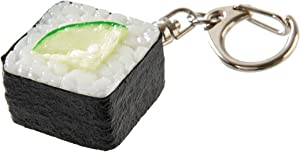 flavorbox(フレーバーボックス) Sushi Keychain (1 Pack: Cucumber Roll) Realistic, Food replicas/for Bags, Keys or Pouches/A Gift for People who Like Sushi and Novelty/Japanese Culture/Japan-Made/ 20 Kinds