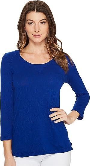 Mod-o-doc Womens Slub Jersey 3/4 Sleeve Sweatshirt Tee
