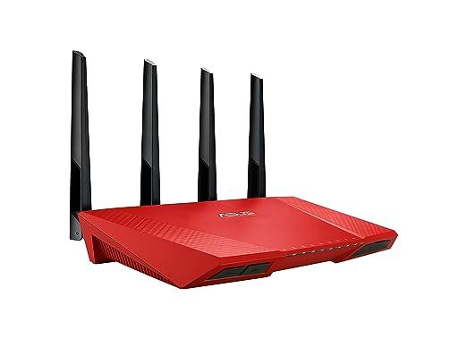3 opinioni per Asus RT-AC87U Gigabit Router, Wireless AC2400 Mbps, 5 Porte RJ45 Gigabit, Rosso