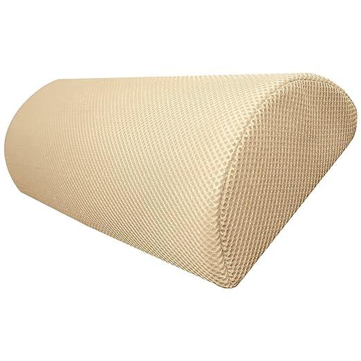 Top Home Solutions – Cojín de espuma de memoria de media luna para usar en cuello, espalda baja, rodillas, piernas, pies. Prácticamente cualquier ...