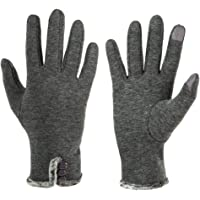 GLOUE Women's Touch Screen Gloves Testing Lined Cashmere Thick Gloves Warm Whether Winter Gloves Driving riding outdoor and indoor fashionable gloves (Grey, M)