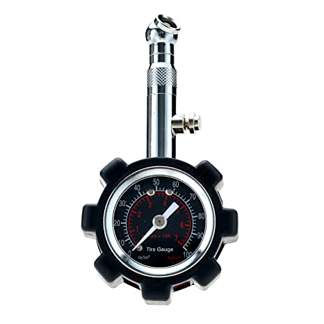 FIXm Preciso Manómetro de Presión de Neumáticos , Medidor Portátil para Ruedas de Coches, Camiones