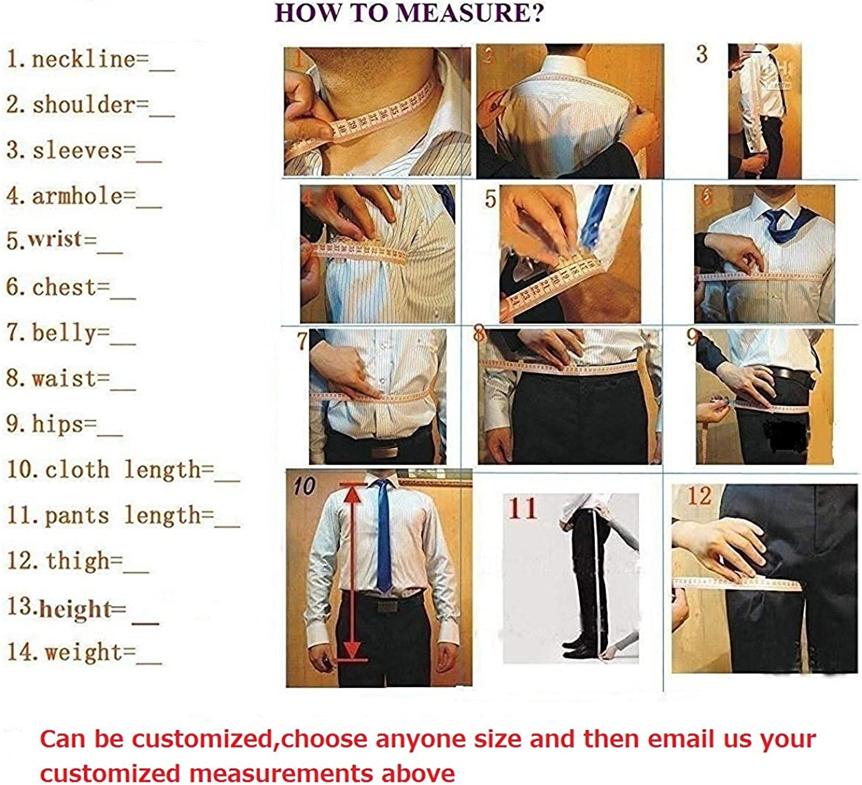 YYI Mens 3 Piece Formal Suits for Men Business Prom Jacket Waistcoat Trousers