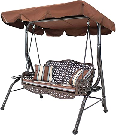 Amazon Com Sogeshome 2 Seat Porch Patio Swings Chairs Outdoor