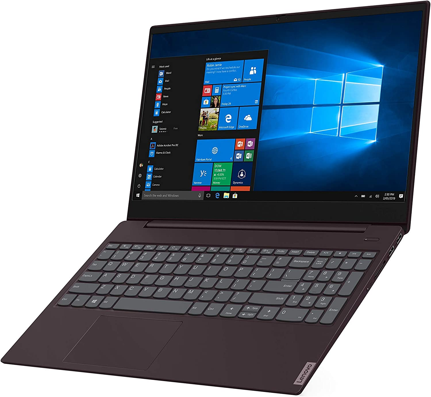 "2019 Lenovo ideapad S340 15.6"" HD Premium Home & Business Laptop, Intel Quad Core i5-8265U Upto 3.9GHz, 8GB RAM, 128GB SSD, USB-C, WiFi, HDMI, Webcam, Windows 10, Dark Orchid (Renewed)"