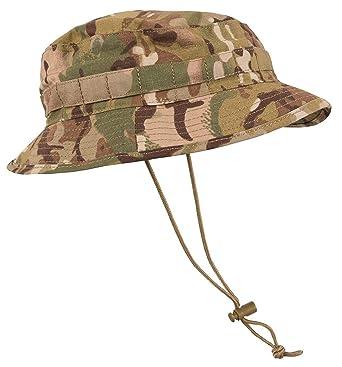 e6c12a6676699 Kombat British Special Forces Short Brim Bush Hat - MTP Camo  Amazon.co.uk   Clothing