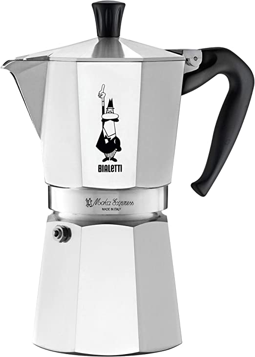 Bialetti 6801 moka stovertop coffee maker, 9-Cup, Aluminum