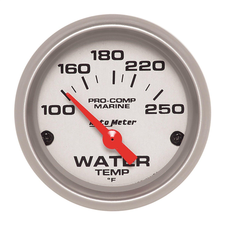 AutoMeter 200762-33 Marine Electric Water Temperature Gauge 2-1/16 in. Auto Meter