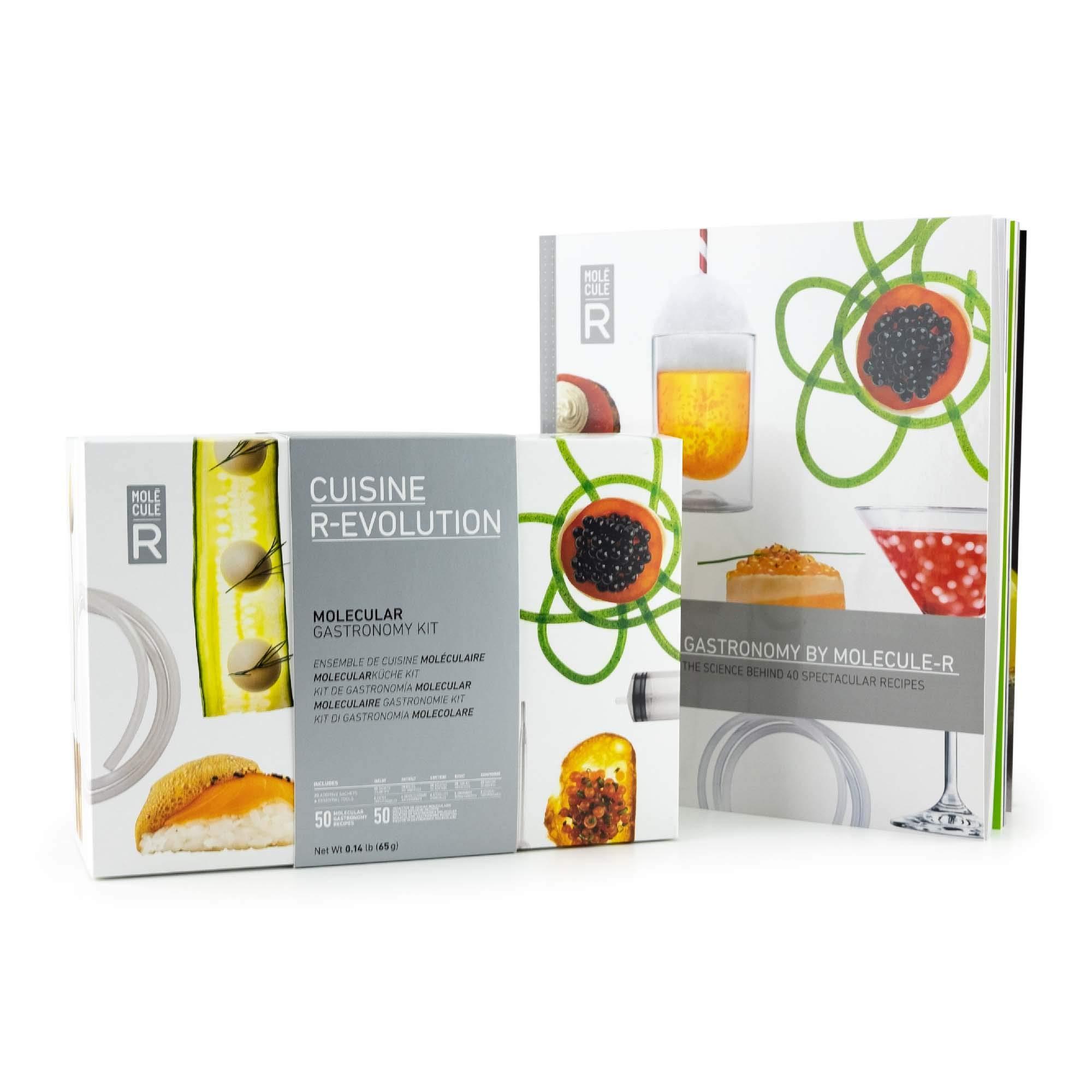 Molecule-R - Molecular Gastronomy Starter Kit + FREE Recipe Book - Spherification Kit - CUISINE R-EVOLUTION