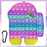 UMEINAC Bubble Fidget Toy, Pop Bubble Fidget Toy, Silicone Pop Fidget Toy, Stress Reliever - Rainbow