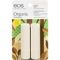 eos Vanilla Bean Smooth Stick Organic Lip Balm, 4g, Pack of 2