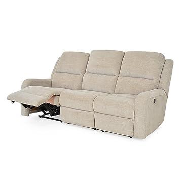 Desconocido Kyra - Sofá de 3 plazas, 2 reclinables ...