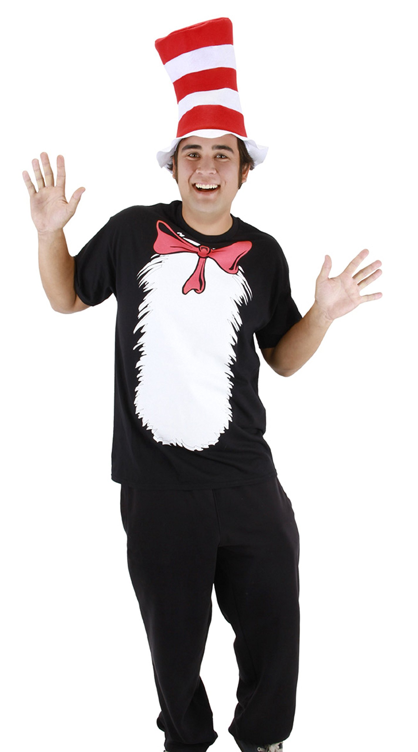 Dr. Seuss Cat in the Hat Short Sleeve T-Shirt with Hat (Mens M) by elope