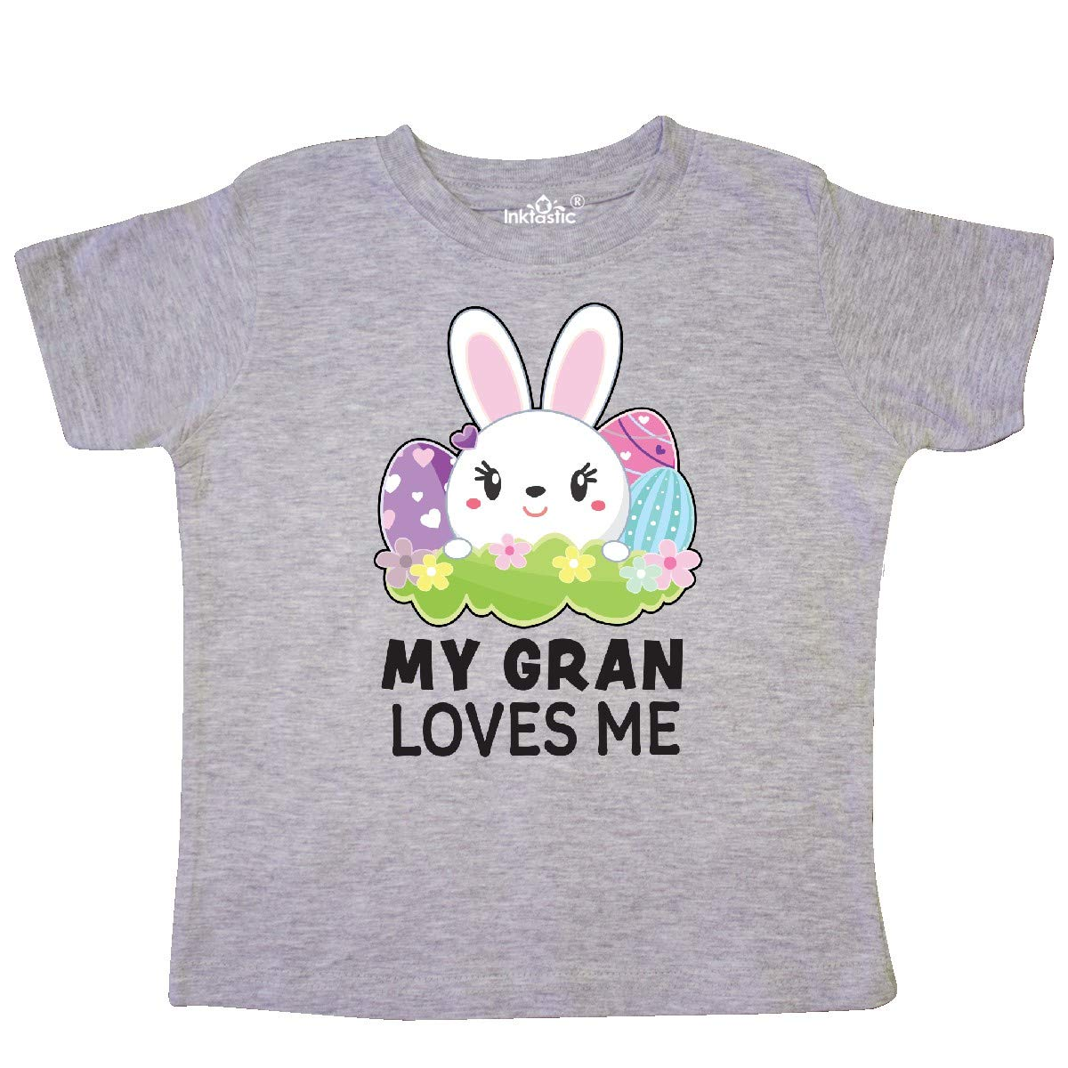 inktastic My Granny Loves Me with Bunny and Easter Eggs Baby T-Shirt