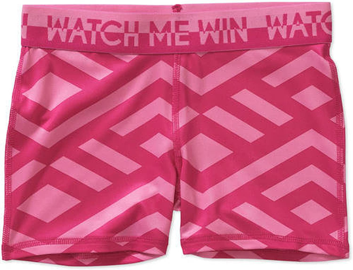 Girls Danskin Fitted Compression Shorts Active Sports Large Geo