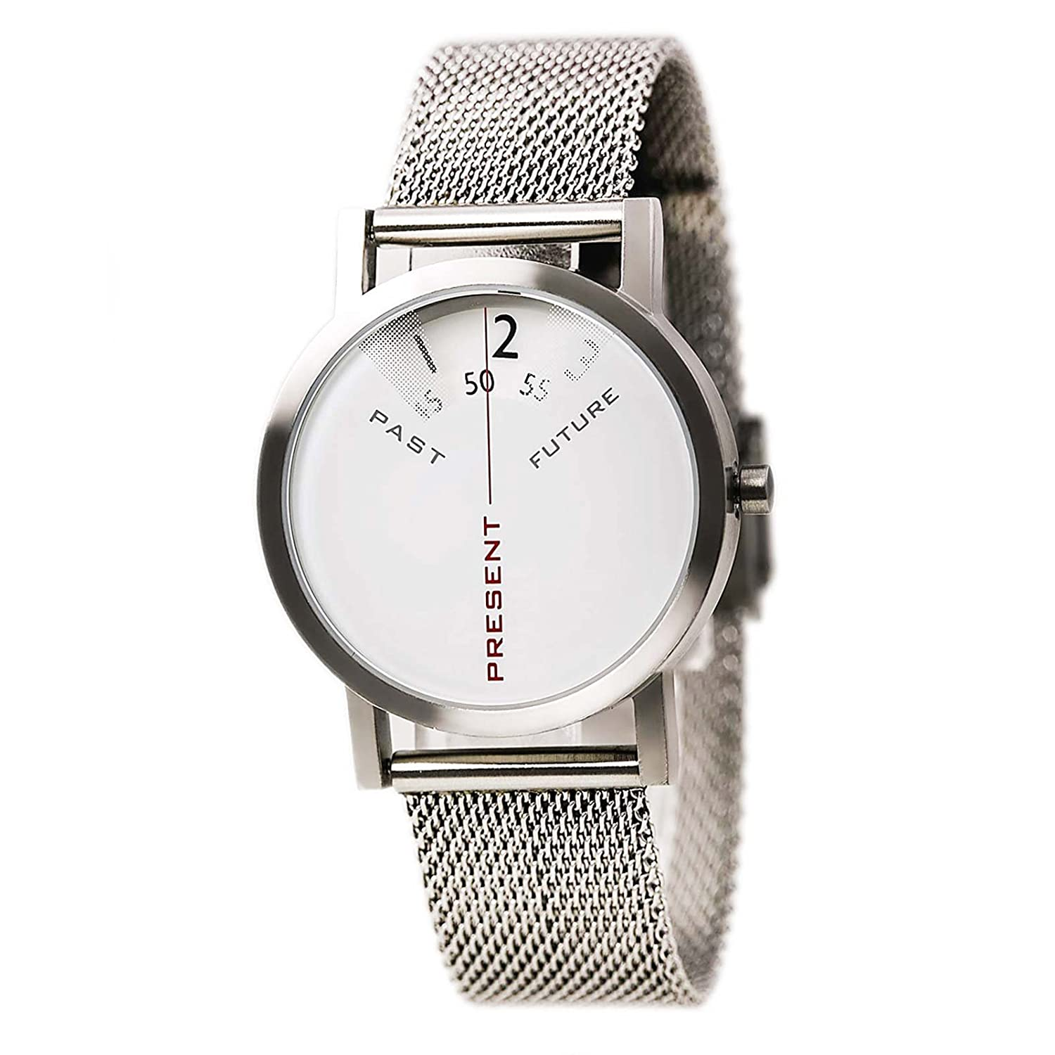 Projects Watch - Past - Present - Future - Silver-Mesh (33mm)