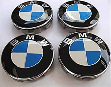 anchangzhang 4 tapacubos BMW Azul y Blanco, con Logo de 68 mm, Serie 1