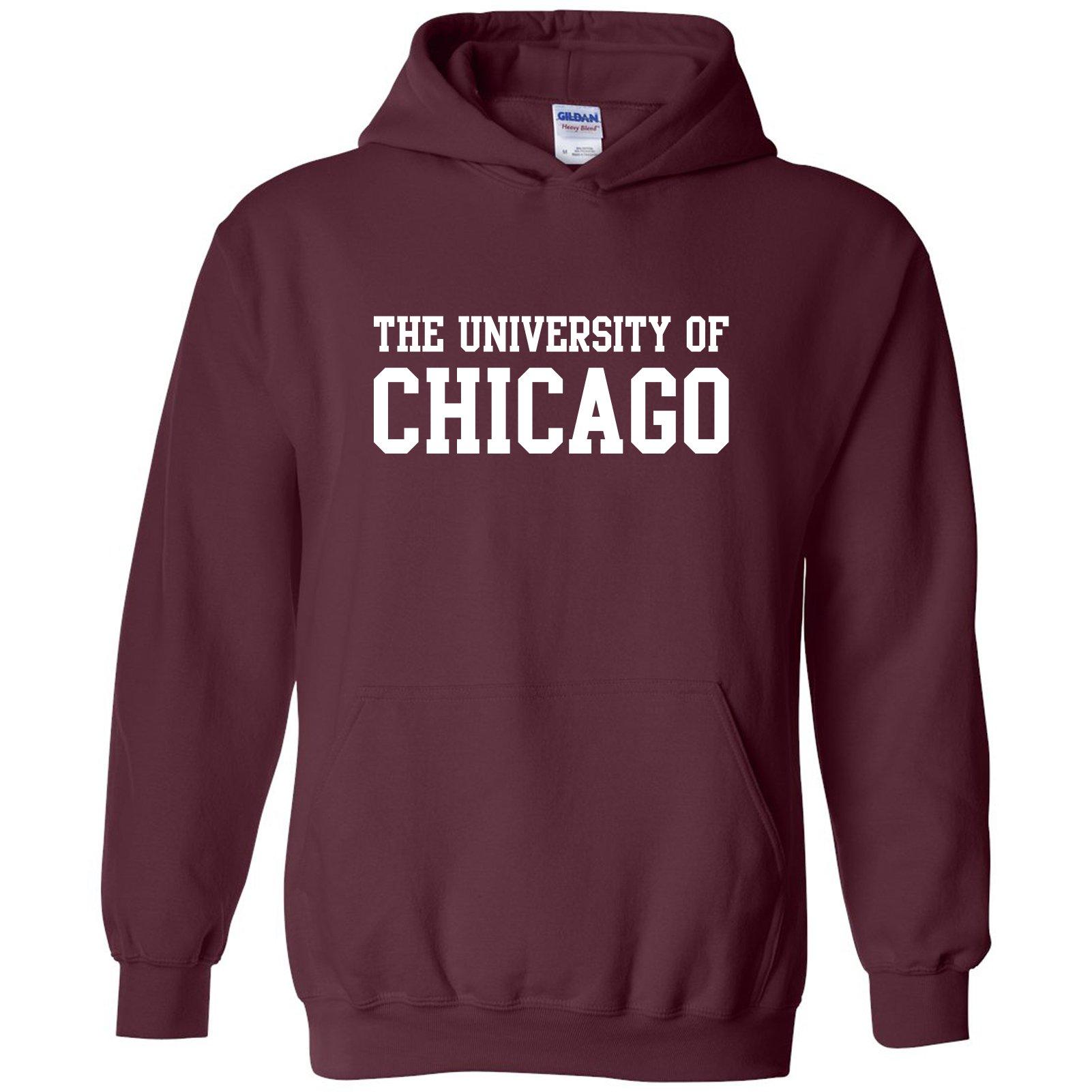 AH01 - University of Chicago Phoenix Basic Block Hoodie - Large - Maroon