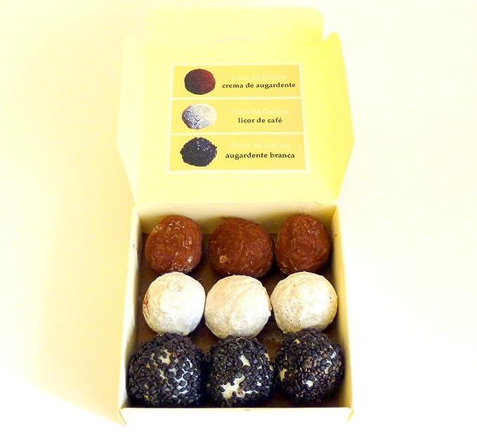 Trufas de chocolate - Sabores licores de Galicia