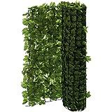 Brise-vue pour balcon lierre–Peut être coupé–vert–3x 1m