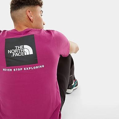 The North Face Camiseta Hombre RedBox tee Wild Fucsia NF0A2TX2ZDN1: Amazon.es: Ropa y accesorios