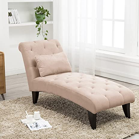 Amazon Tongli Chaise Lounge Button Tufted Sofa Chair Couch