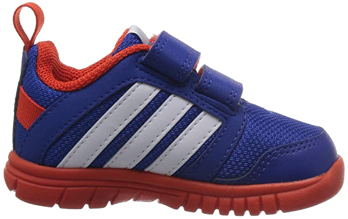 adidas Kids Sta Fluid Comfort Trainer M25491 in NavyWhitered Velcro Strap Sizes UK 5,5.5,6,7,7.5,8.5,9.5 Unisex Infants