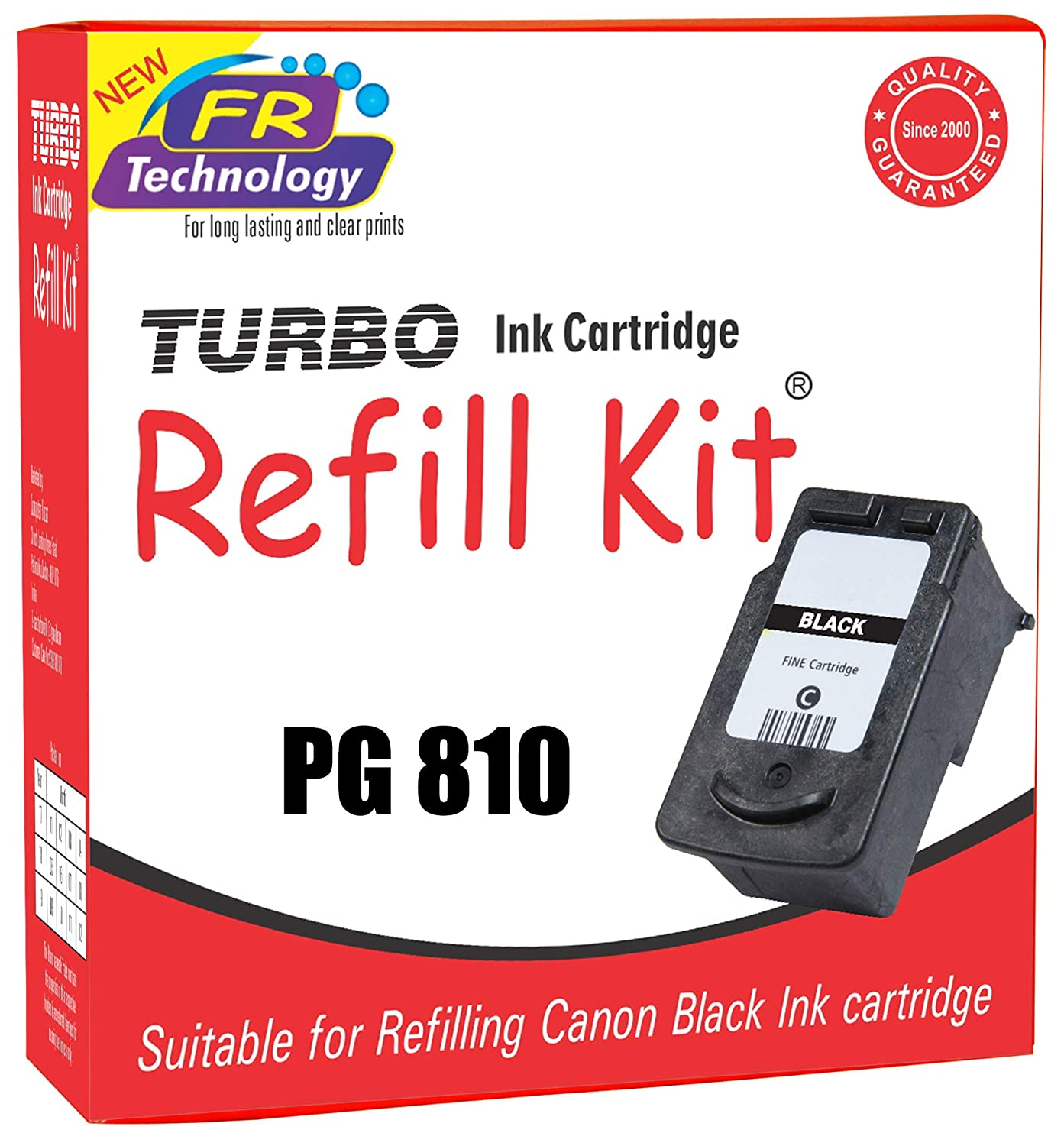 Turbo Ink Cartridge Refill Kit For Canon 810 Black Cl 811 Color Computers Accessories