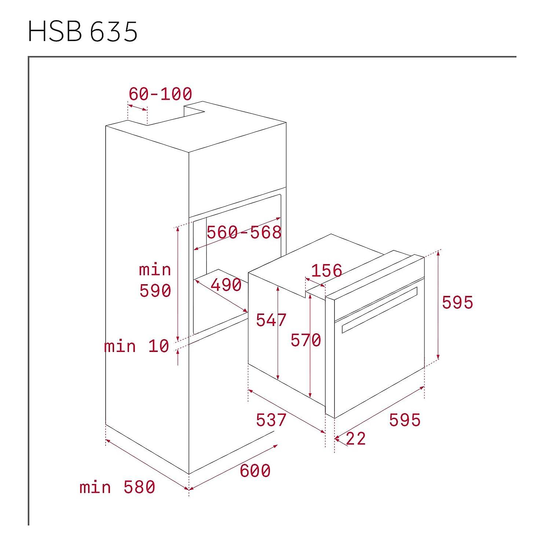 Teka HSB 635 - Horno (Medio, Horno eléctrico, 70 L, 2615 W, 70 L, 2500 W)
