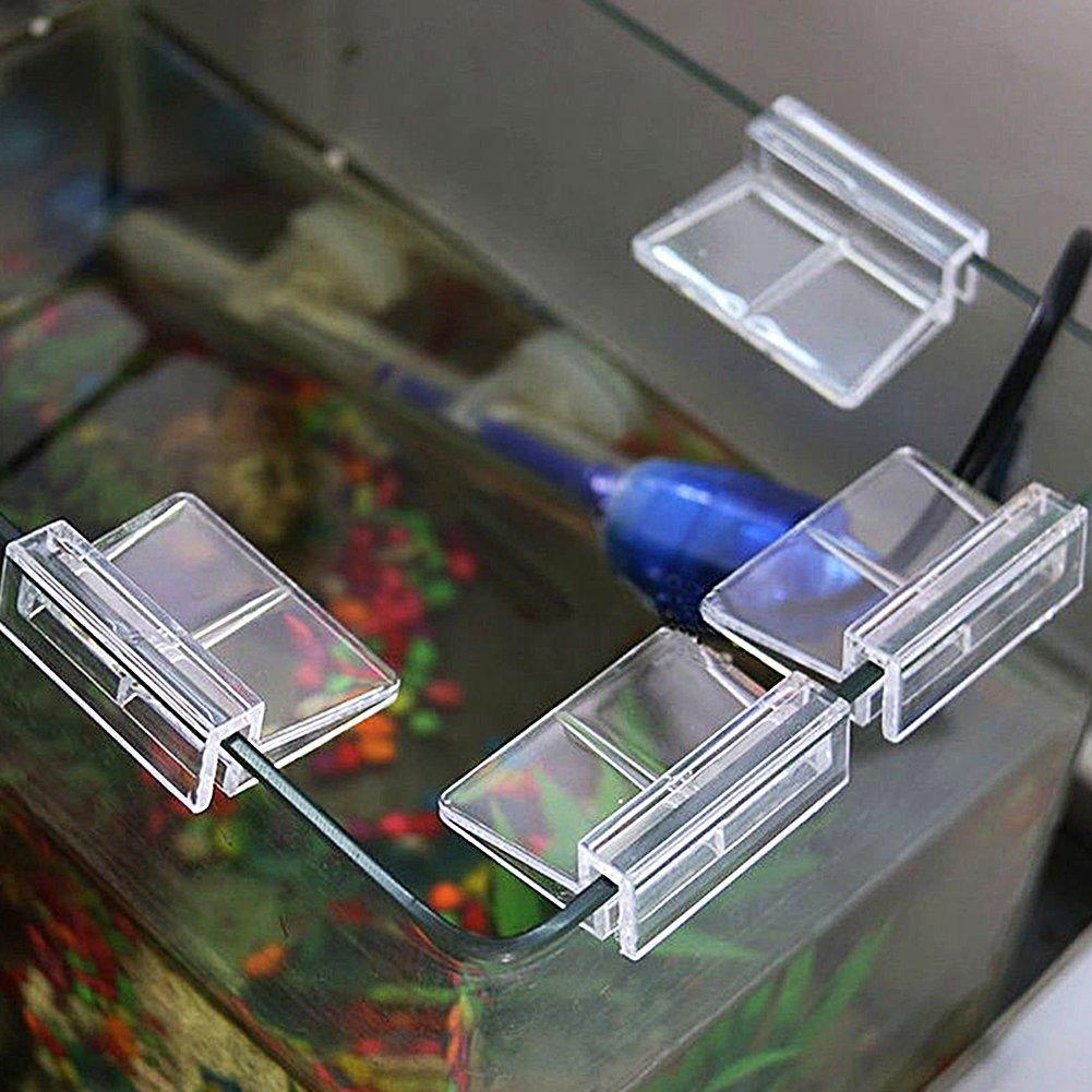 SUPEWOLD Superewold - Juego de 4 Clips de plástico para Acuario, Soporte Transparente para Acuario y Tanque de Peces, 4 tamaños a Elegir: Amazon.es: ...