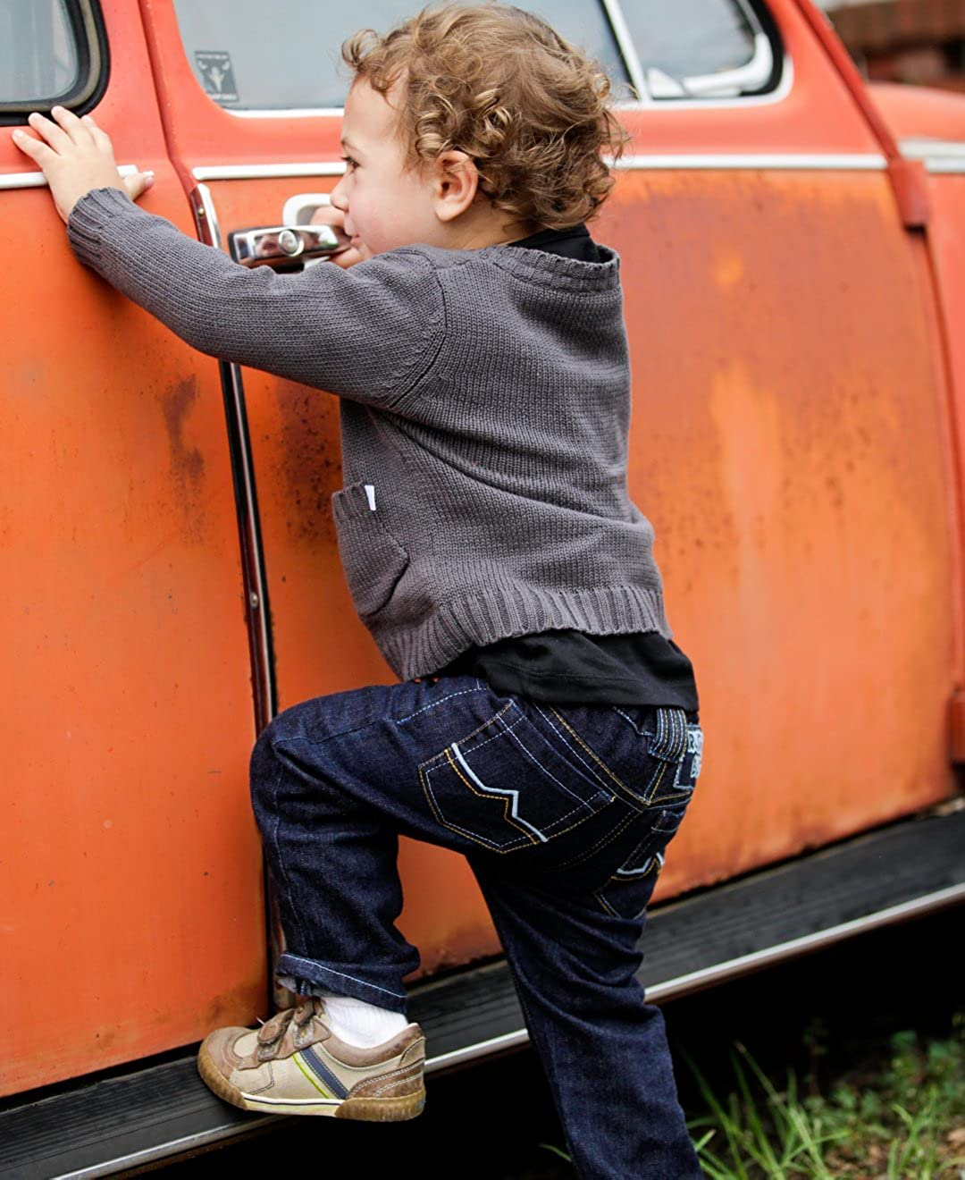 RuggedButts Baby//Toddler Boys Adjustable Waist Slim Jeans BPDYYXX-SLIM-SC-BABY